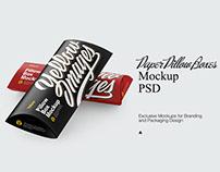 Two Kraft Boxes Mockup PSD