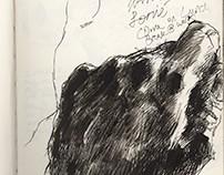 Sketchbook Pages (Mostly Pen Sketches), Summer 2015