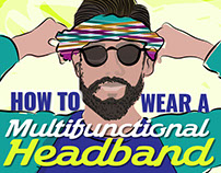How to wear a HEAD BAND // Illustration