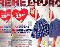 Retro Night Flyer - Club A5 Template