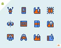 Free Design & Development Icon Set