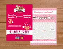 Cartões de Visita e Flyer | Juju Pet Shop