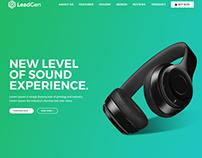 Leadgen - Marketing Landing Page - Product Showcase