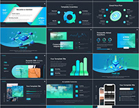Best Blue Infographic Data PowerPoint template