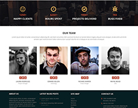 UIBrush Free Multi Purpose Web Design PSD Template