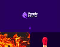 Purple Flame Logo Design