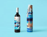 Europe. Wine label