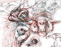 Alien creatures sketch