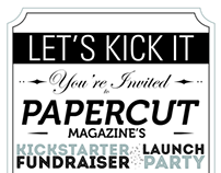 Papercut Party Invite