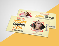 Clothing Store Discount Coupon Card Template