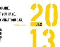 Inspirational Typography Calendar