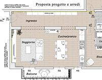 Progetto per la ristrutturazione di un appartamento