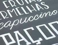 Placa - Chalk Lettering