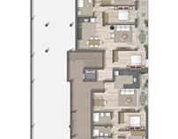 Floor plan 2D rendering in Barcelona