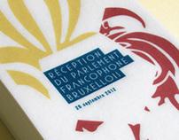 Parlement Francophone Bruxellois / Invitation