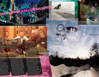 Chase BMX Magazine editorial layouts
