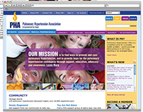 Pulmonary Hypertension Association Website Design