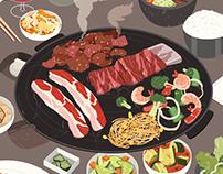 Food illustrations 2019