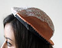 orange straw hat