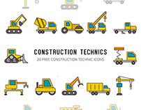 Construction Technics Vector Free Icon Set