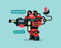 Digital Illustration: Game Design Monster Squad
