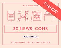 FREEBIE   Line Icons – News