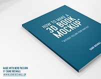 Free: A Book Mockup created in Blender