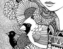 Hair, Birds, and Flowers