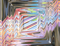 Illusion of Stripes Refracted, Photoshop painting