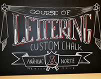 Course of lettering, custom chalk