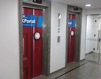 Elevador no Hall da KPMG Brasil