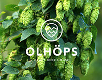 Graphic for Olhöps Craft Beer House.