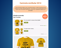 Camiseta Vestibular 2014 e 2015