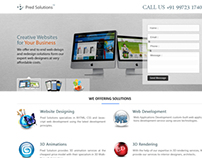 Pred Solutions - Landing Page Design