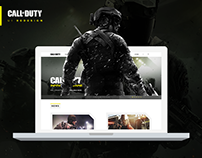 Call of Duty Website UI - Redesign