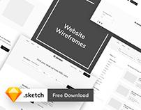 Website Wireframes - Free Download