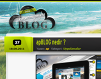 apBLOG Theme PSD File