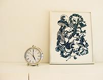 Alice in Wonderland Papercut