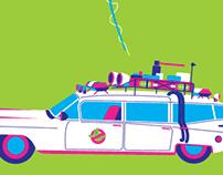 Screen printing - Movie Cars
