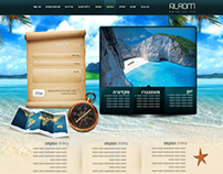 Alrom travel website design