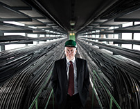 Portraits of the ex-head of Veolia Energetics Hungary