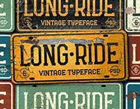 Long Ride. Font & Mockup.