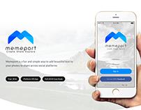 Memeport - iOS App UI/UX Case Study