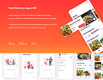 Food Delivery UI Kit And Landing Pages