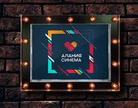 "Logo and branding identity ""Alania Cinema"""