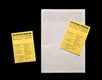 Riso printed newspaper Publication