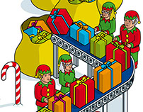 White Pages Christmas Elves Banner Advertising Campaign