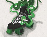 Bocetos para Mambas Negras Roller Derby