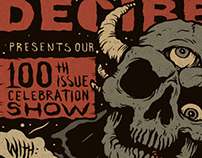 Decibel Magazine 100th issue show poster