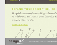 DesignLab Events Web Site